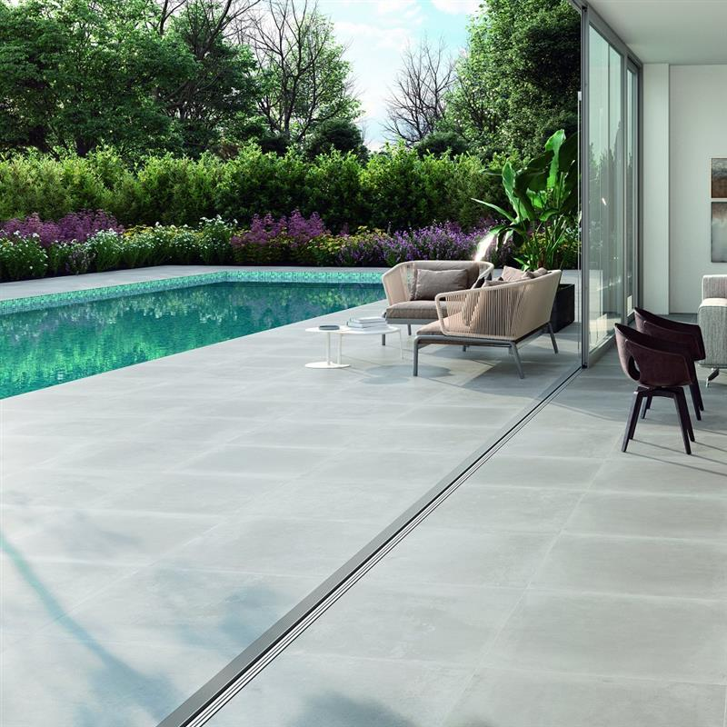 Betonlook wit wetlook 60x60